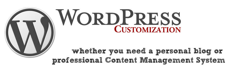 Customized WordPress blog