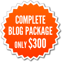 Complete Blog Package - only $300